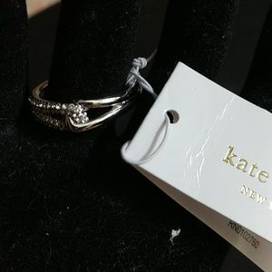 "KATE SPADE ""GET CONNECTED"" INFINITY RING! BNWT!!"
